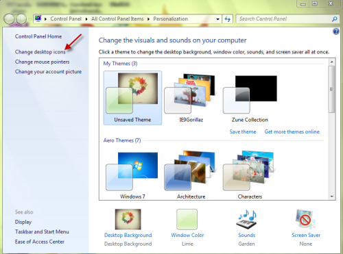 Peachy Windows 7 How Can I Change The Computer Icon On My Desktop Home Interior And Landscaping Spoatsignezvosmurscom