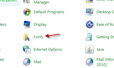 windows 10 how to find font.tff