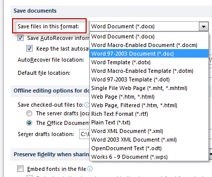 how to set microsoft office 2010 as default program