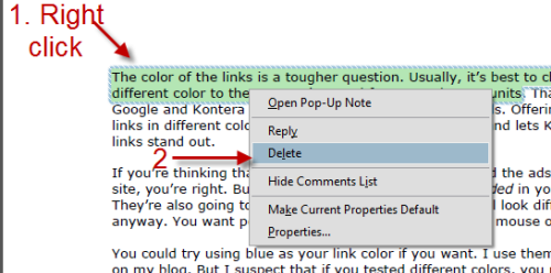 Adobe Reader: How to Highlight (or Unhighlight) Text in a PDF File