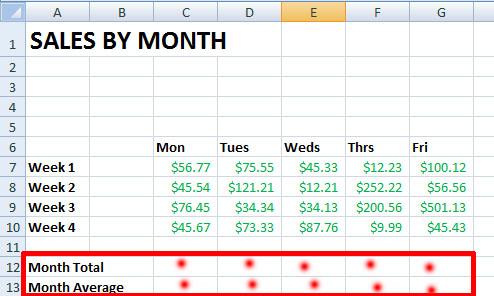 Excel Autosum