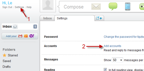 how to add second hotmail account