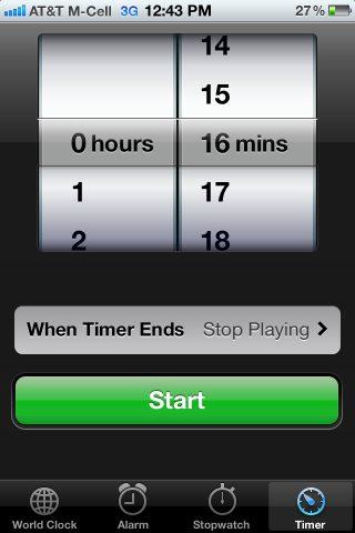 iphone timer screen