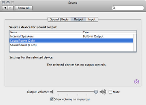 Soundflower Preference Screen