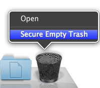 select Secure Empty Trash