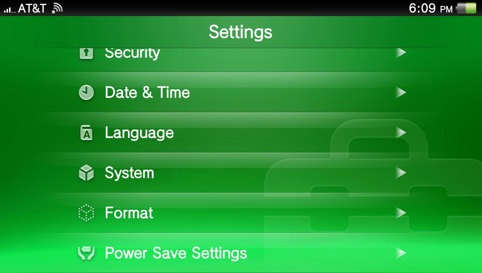 Playstation Vita: Change Auto Standby and Power Save Settings