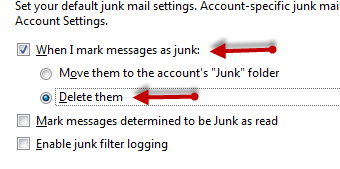 how to move emails to junk automatically