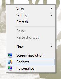 Gadgets Desktop Windows 7
