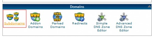 Cpanel Domains Subdomains