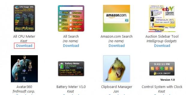 Gadget Store Windows 7