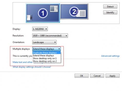 Windows 7 duplicate monitors