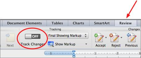 Tracking changes in word for mac 2011