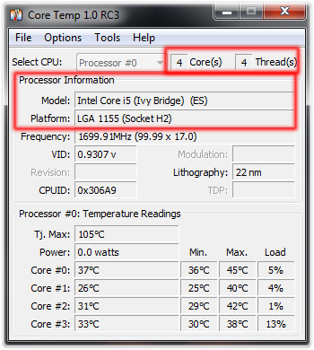 Pc temperature