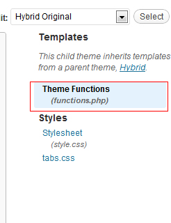 Wordpress Functions.php editor