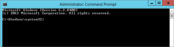 example of elevated command prompt