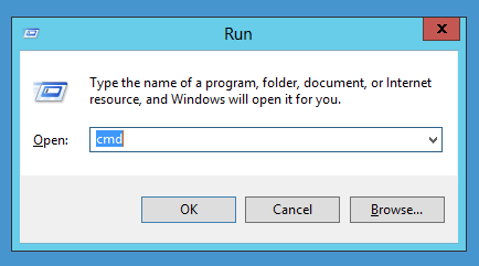 Run to Open cmd