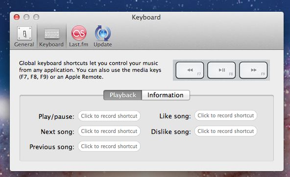use preferences to set keyboard shortcuts