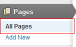 Wordpress view all pages