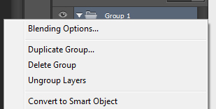 Photoshop CS6 Group Blending Options