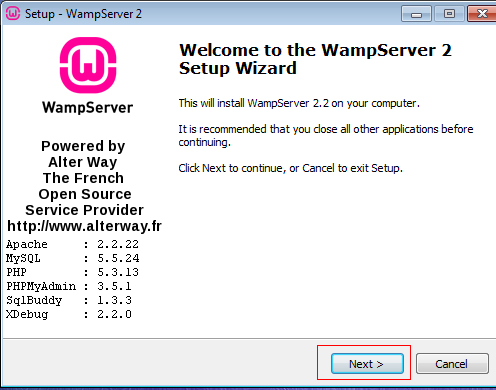 WAMP Install