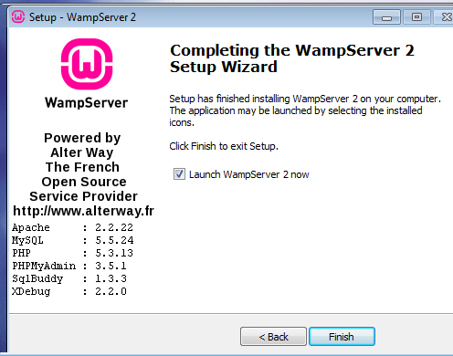 Launch WAMPserver