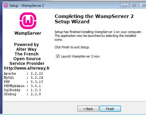 Launch WAMPserver