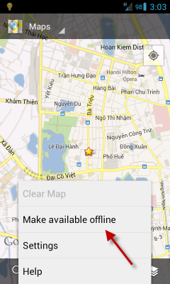 Google Maps for Android: Download Map for Offline Use on