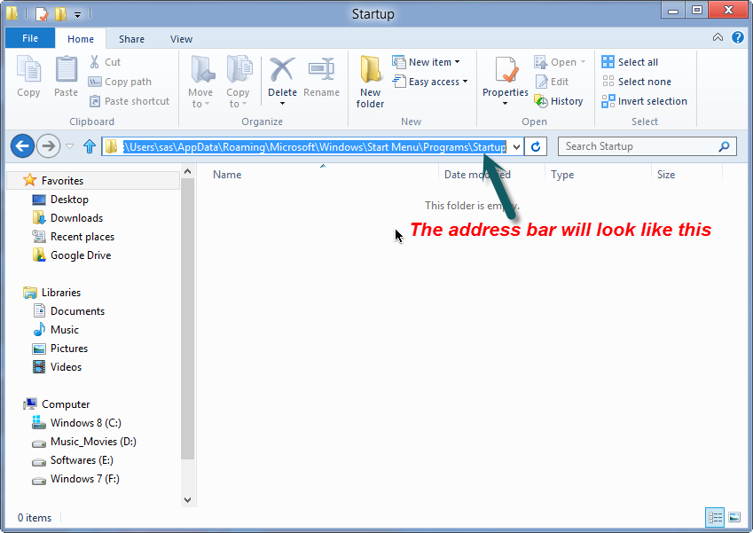 windows startup folder server 2016