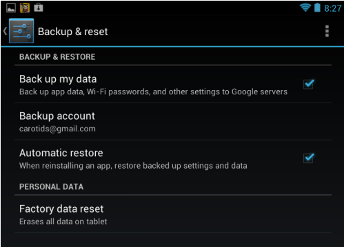 Nexus 7 How To Reset Back To Factory Settings How To  Caroldoey