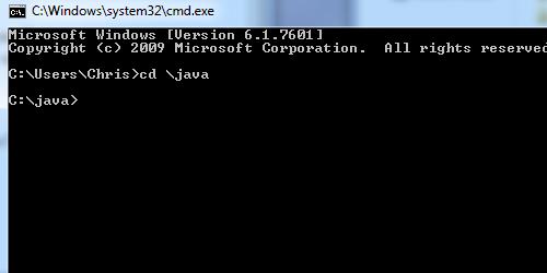 Java CD CMD