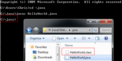 How to Compile Java Programs through Windows CMD