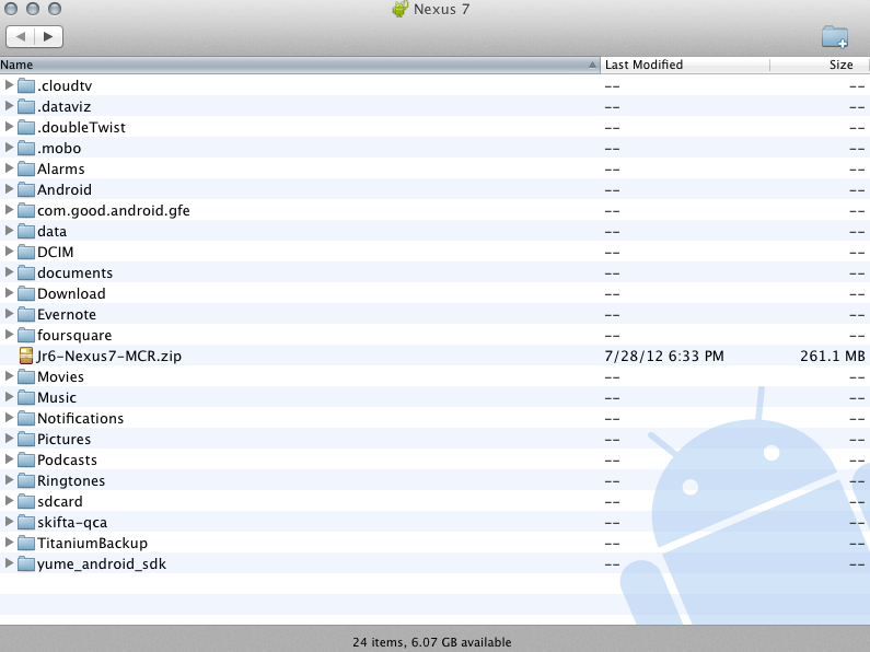 Google Nexus 7 How To Access Files From A Mac