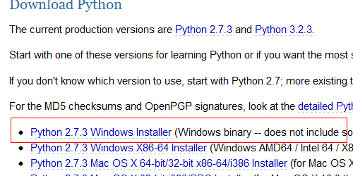 Download Python 2.7.3 Windows Installer
