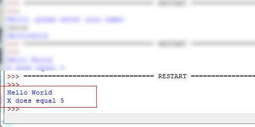 Python Shell Restart