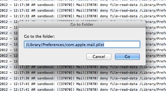 navigating to the .plist folder