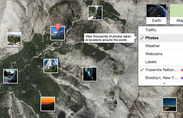 google maps with photos tagged