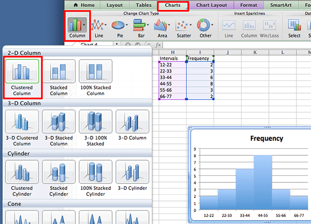 Histogram in word