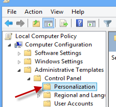 group policy personalization