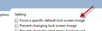 force a specific default lock screen image