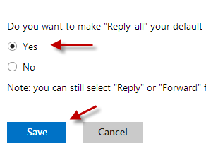 "Do you want to make ""Reply-all"" your default response"