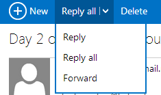 Outlook.com Reply button expanded