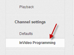 Choose the InVideo Programming option