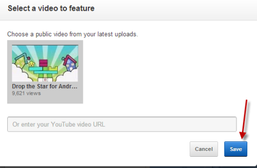 Enter the video URL or choose the video from the list