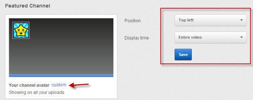 Tweaking the position and the display time of the channel icon