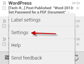 Gmail for Android Settings