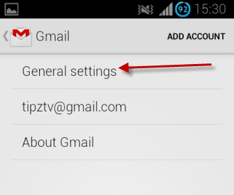 Gmail for Android general settings