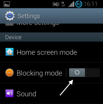 android blocking mode