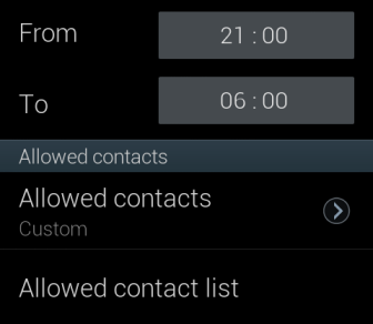 Blocking mode allowed contacts option