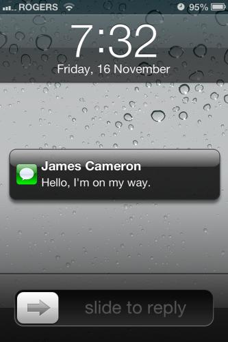 iPhone: SMS Quick Access iOS 5 - Scott SherwoodScott Sherwood
