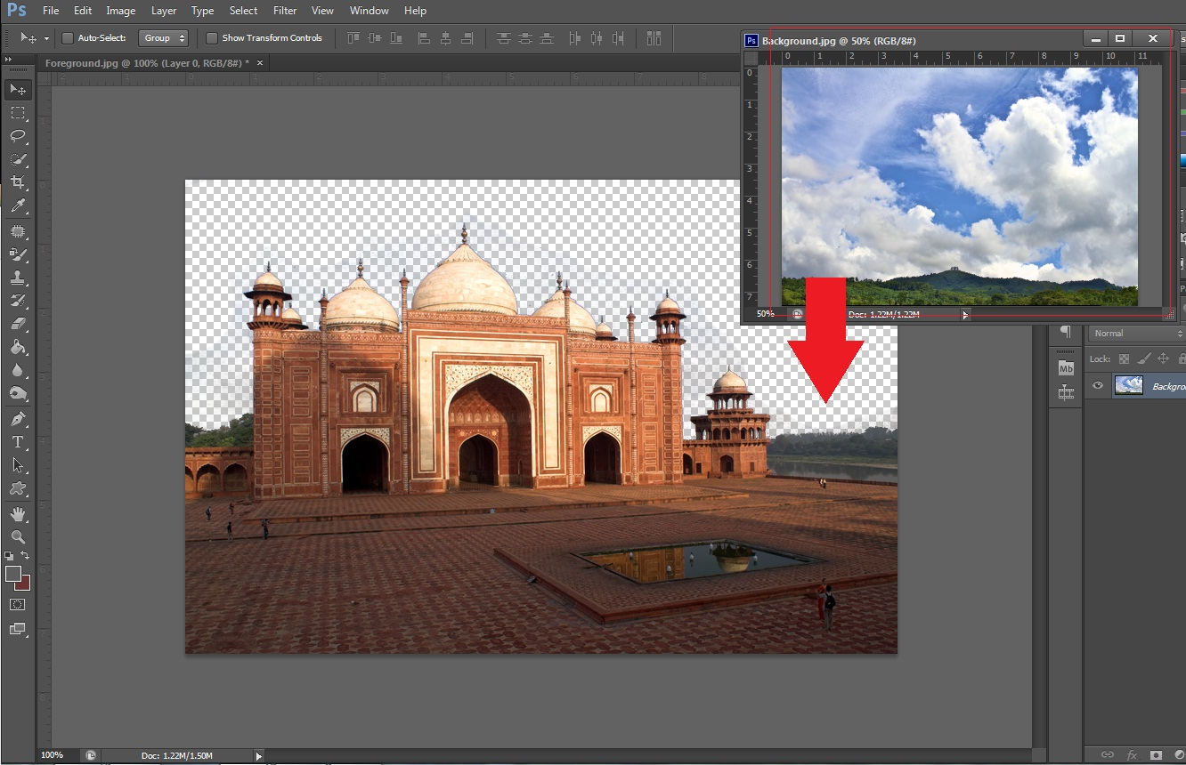 Photoshop replace the background of an image make sure that the background layer is positioned below the main layer in the layers palate baditri Images